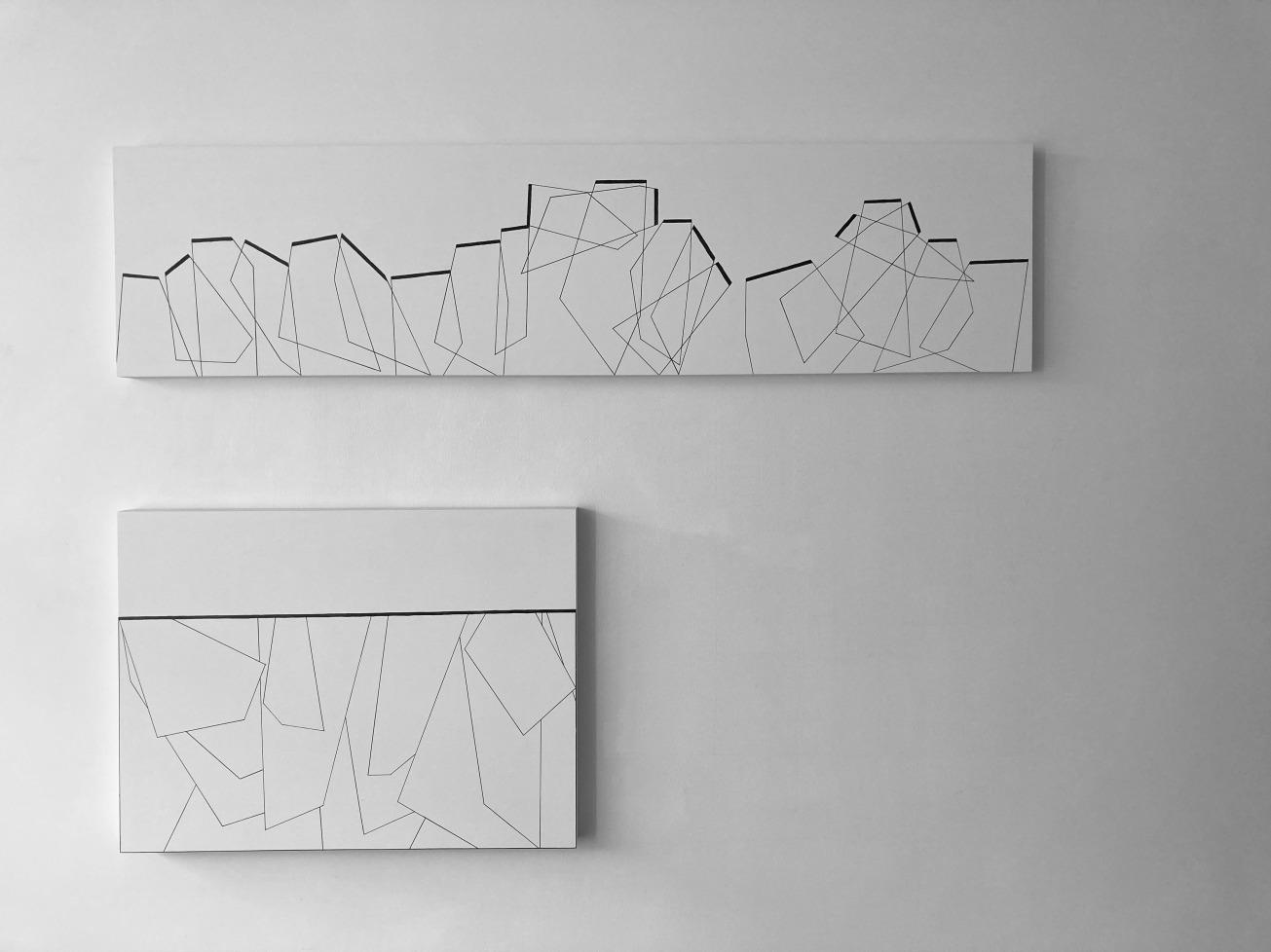 Anne-Sophie Coiffet, HD, Re-construction_paintings on canvas_122 x 30,5 cm ; 61 x 45,5 cm_2015
